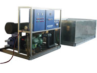Commercial block ice machine